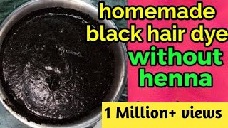 homemade black hair dye without henna