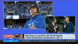 Matt Nagy on new Bears DC Chuck Pagano | Good Morning Football