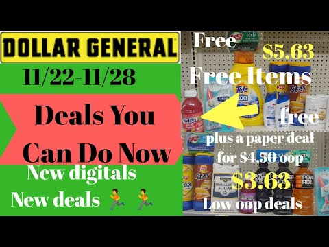 Dollar General Deals You Can Do Now 11/22-11/28