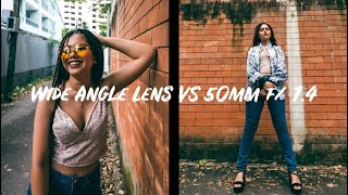 WIDE ANGLE VS 50mm F/ 1.4 PORTRAIT PHOTO SHOOT | Sammy Kleinn