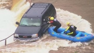 Dramatic water rescue caught on camera in Oklahoma City