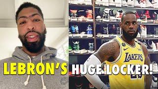 Anthony Davis shows LeBron James HUGE SHOES LOCKER!