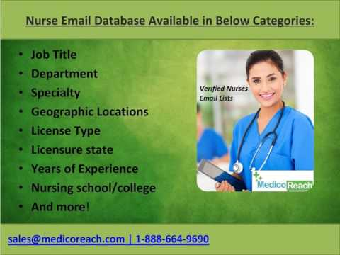 Verified Nurse Email Lists Available at MedicoReach