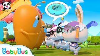 Baby Panda Helps Aliens Find UFO   Super Panda Rescue Team   BabyBus Cartoon   BabyBus