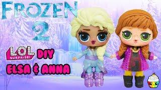 New Disney FROZEN 2 DIY LOL Surprise Anna & Elsa Makeover