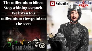 The millennium biker lifestyle. A millennial speaks out on why he don't agree with older bikers