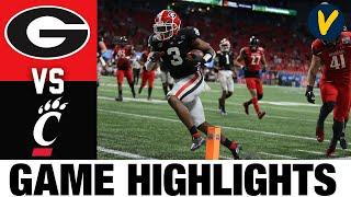 #9 Georgia vs #8 Cincinnati Highlights | 2021 Peach Highlights| College Football Highlights