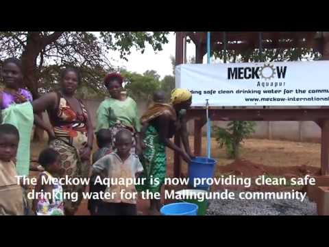 SAFE CLEAN DRINKING WATER PROVIDED BY THE MECKOW AQUAPUR