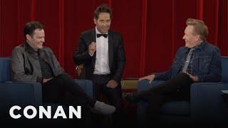 Paul Rudd Crashes Bill Hader's CONAN Interview - CONAN on TBS