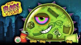 ХИЩНЫЙ СЛИЗЕНЬ ХОЧЕТ КУШАТЬ Мульт игра для детей про злую голодную слизь Mutant Blobs Attack