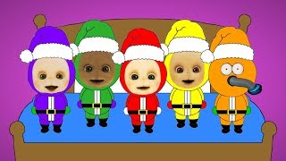 Five Teletubbies Santa's Jumping On The Bed
