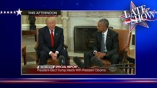 Trump And Obama, Sitting In DC, A-W-K-W-A-R-D