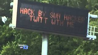 D.O.T. Signs Hacked In Asheville & Statewide