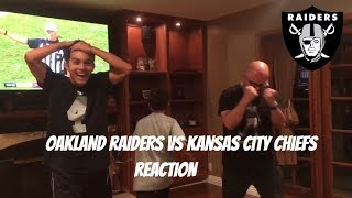 Oakland Raiders vs Kansas City Chiefs live reaction 31-30 Week 7