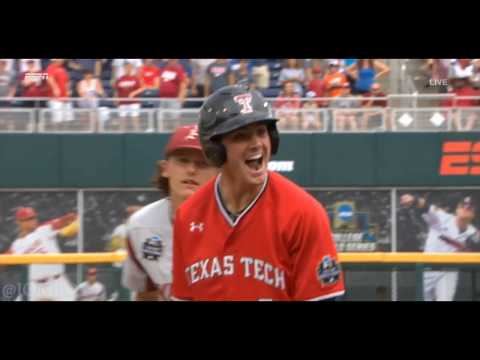Texas Tech takes the lead over Arkansas  in the bottom of the 8th, a breakdown