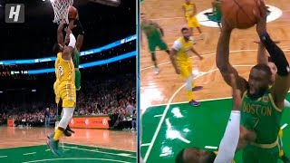 Jaylen Brown DUNKS ON LeBron James - Lakers vs Celtics | January 20, 2020