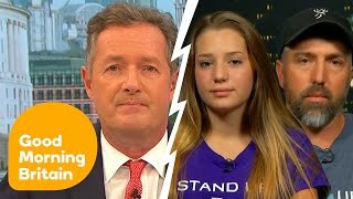 Piers Morgan Argues With Trophy-Hunting 12-Year-Old Girl And Her Father | Good Morning Britain
