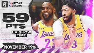 LeBron James Historic Triple-Double & Anthony Davis 34 Pts Highlights vs Thunder | November 19, 2019