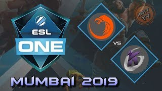 TNC vs Keen Gaming / Bo3 / Playoffs /  ESL One Mumbai 2019 / Dota 2 Live