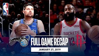 Full Game Recap: Magic vs Rockets | Harden Drops 40 In CP3's Return