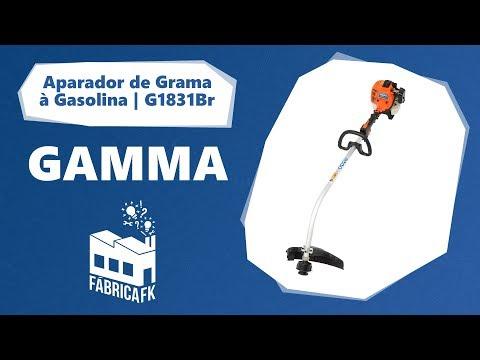 Roçadeira A Gasolina 26CC G1831BR Com Eixo Curvo Gamma - Vídeo explicativo