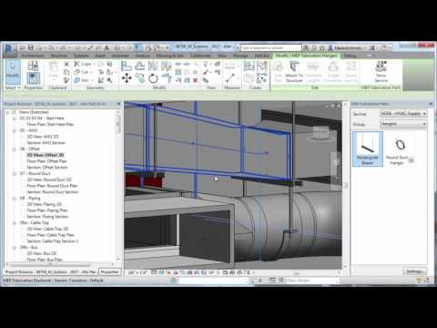 Revit 2017 - What's New Fabrication Hanger Improvements