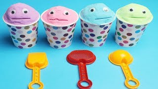 4 Color Kinetic Sand in Chupa Chups PJ Masks Cups | Learn Colors and Nursery Rhymes for Kids