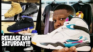 RELEASE DAY SATURDAY!!! SOUTH BEACH JORDAN 8 AND MORE!!!