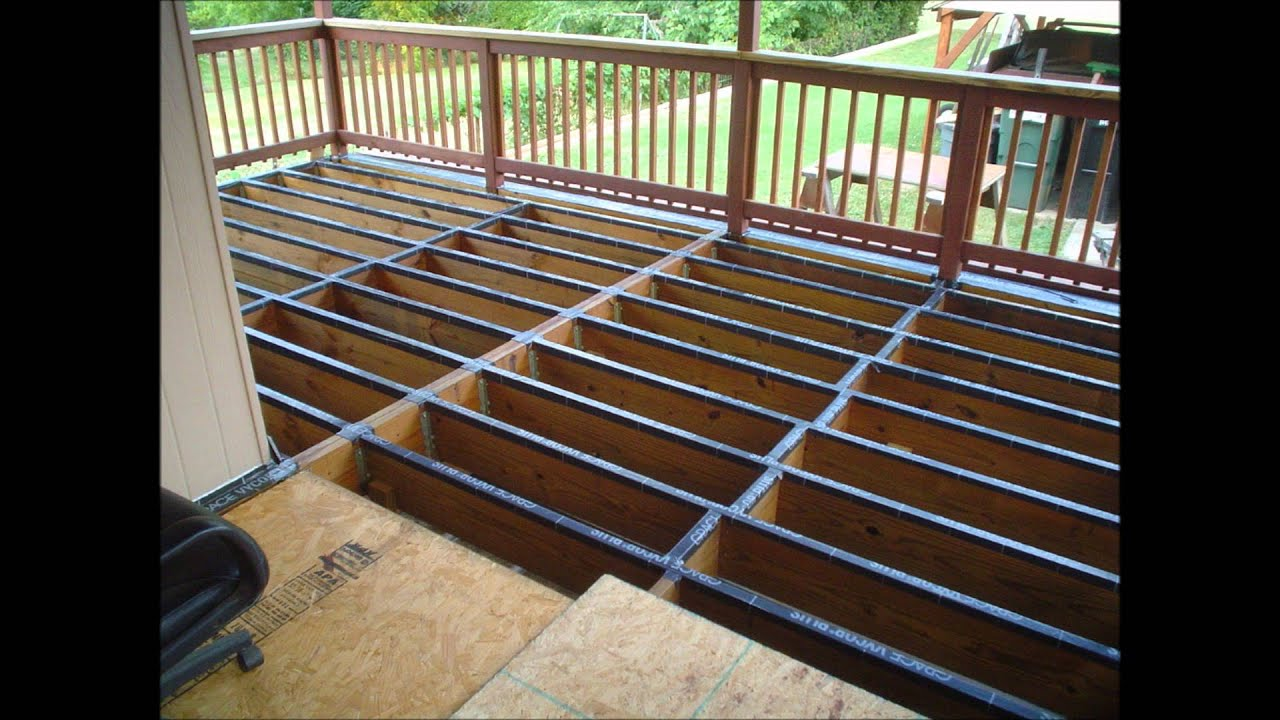 Applying The Vycor Plus Flexible Flashing To The Deck