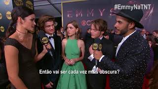 #EmmyNaTNT | Entrevista com Joe Keery, Natalia Dyer e Charlie Heaton