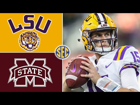 LSU vs Mississippi State Football   Game Highlights   2020