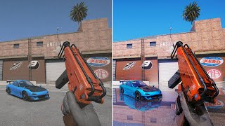 GTA 5 - 8k Resolution RTX 2080 Ti [RTX OFF vs RTX ON] Side by Side Ray Tracing Comparison 2019 Mod!