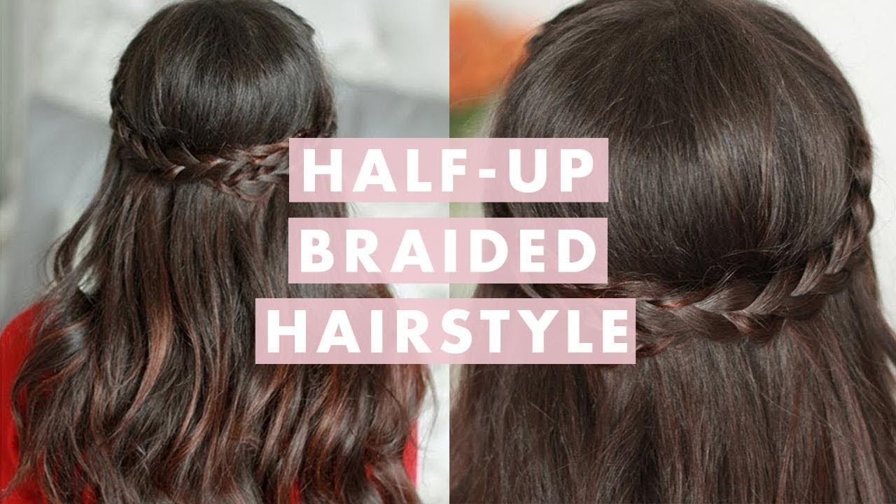 Hairstyles Braids Half Up: Valentine's Day Half Up Braided Hairstyle
