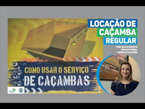 Silvia Bonato fala da importância da Locação de Caçamba Regular