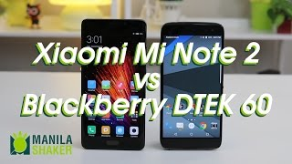 Blackberry DTEK 60 vs Xiaomi Mi Note 2