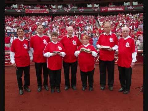 Gateway Harmonica Club plays the National Anthem at opening day in St. Louis