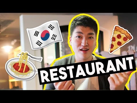 Real Life Korean Restaurant *brother appears* | 한국언니 Korean Unnie