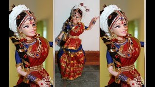 South Indian Barbie Doll Making/DIY/Classical Dancer/How to make Bharatnatyam Dancing Barbie Doll