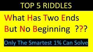 Top 5 Riddles That Will Blow Your Mind | Only the Smartest 1% Can Solve