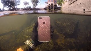 Found Lost iPhone Underwater in River While Snorkeling! (Freediving) | DALLMYD