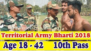 Territorial Army Recruitment 2018, Open Rally TA 10th pass