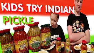 KIDS EAT INDIAN PICKLE/ MOTHER'S RECIPE/ REVIEW TASTE TEST