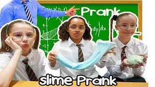TIANA'S SLIME PRANK IN SCHOOL  CLASSROOM!!