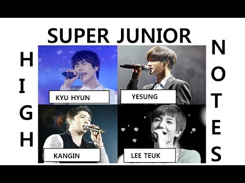 SUPER JUNIOR high notes part I (KYU HYUN, LEE TEUK, KANGIN, YESUNG)