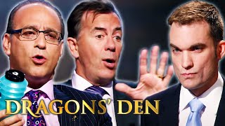 Frustrated Dragon Throws Bottle at Entrepreneur | Dragons' Den