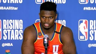 Zion Williamson Postgame Interview - NBA Rising Stars - 2020 NBA All-Star Weekend