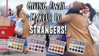 GIVING AWAY MAKEUP TO STRANGERS!   Maritza Mejia