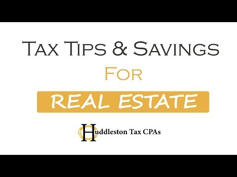 Tax Savings With Real Estate Ownership Explained (Small Business Webcast)