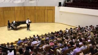 Sam at Mills Concert Hall, University of Wisconsin