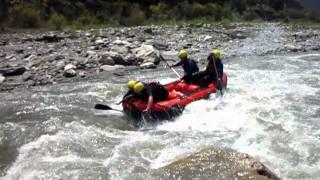 Rafting à contre sens en espagne